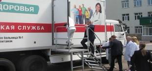Россия передала Таджикистану передвижной лечебно-профилактический комплекс