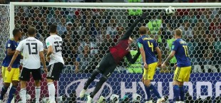 Germany against Sweden foobal