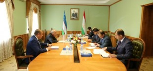Rustami Emomali i Posol Uzbekistana