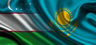 Uzbekistan Kazahstan flagi