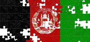 flag Afghanistana mozaika
