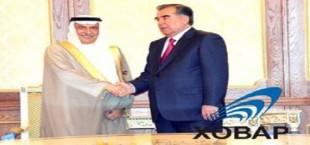 Беседа Э.Рахмона с министром финансов Саудовской Аравии