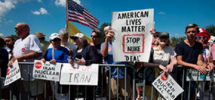 protests in America aganst iranian nuclear programm