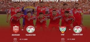 tajikistan national team friendly match november