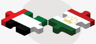united arab emirates and tajikistan flags