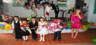 Выпускники в Кулябе коллективно исполнили гимн Таджикистана
