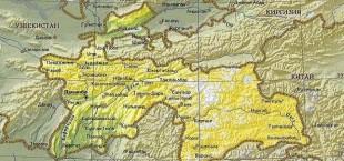 karta Tajikistana