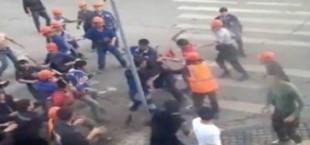В YouTube появилось видео групповой драки трудовых мигрантов в центре Москвы